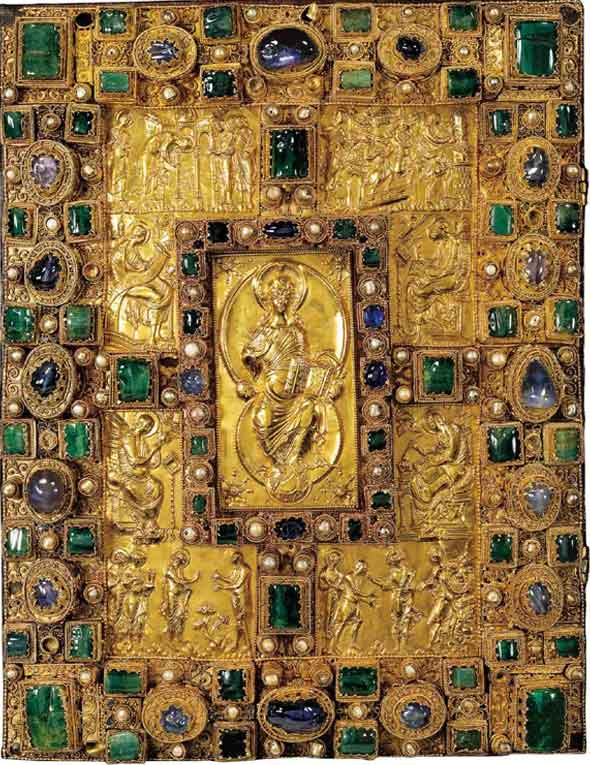 Codex Aureus emeralds