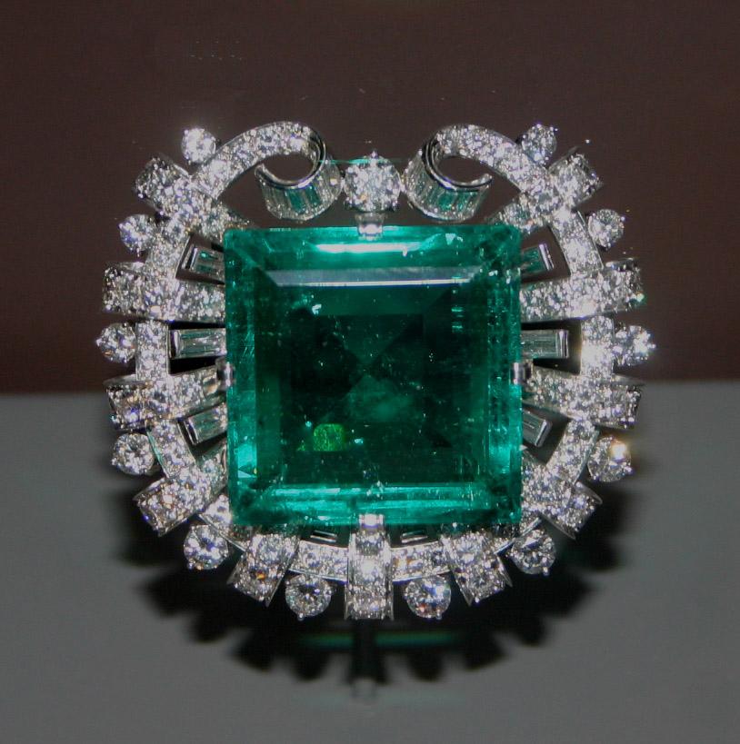 Hooker emerald brooch