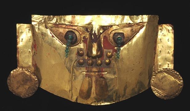 Incan Gold Emerald Funerary Mask