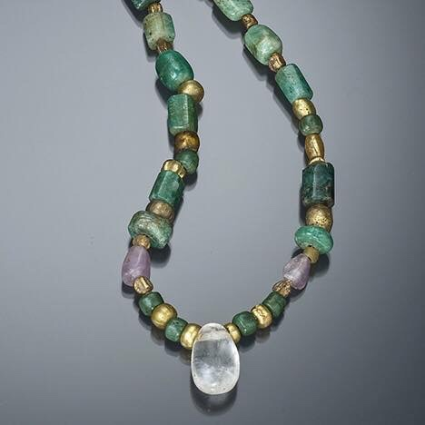 ancient egyptian emerald necklace