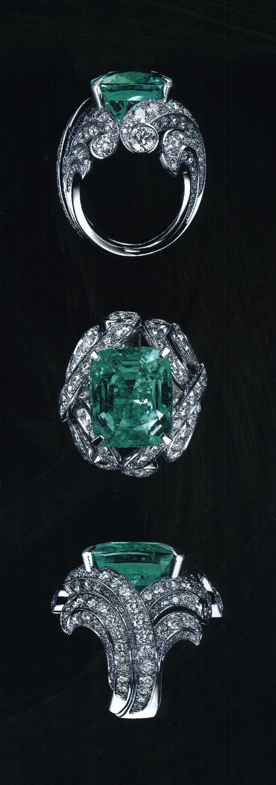 cartier emerald diamond ring