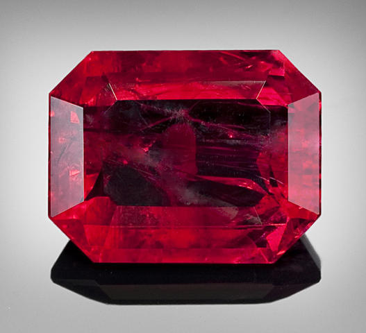 faceted red beryl