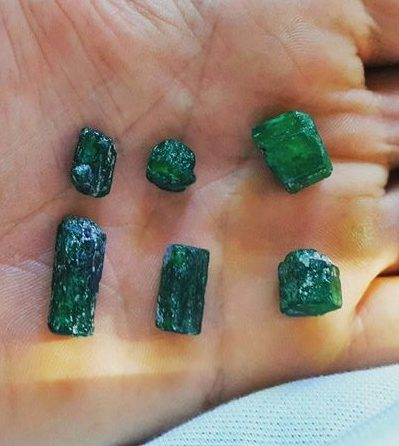 sandawana emerald crystals