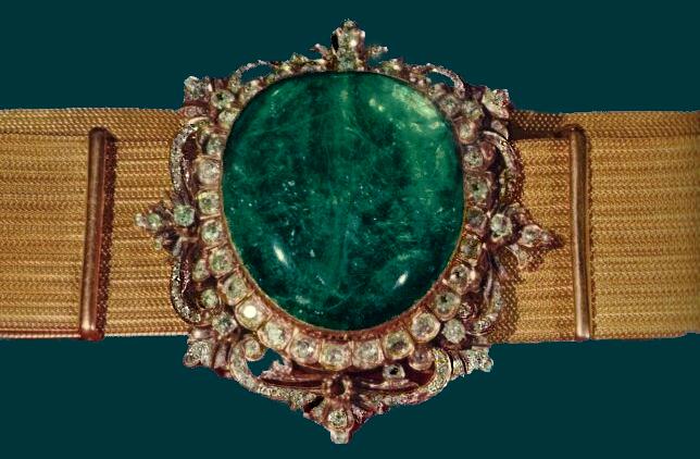Iranian Emerald Coronation belt