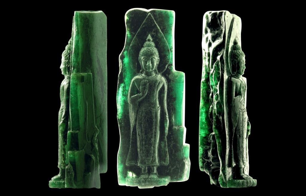 emerald buddha crystal