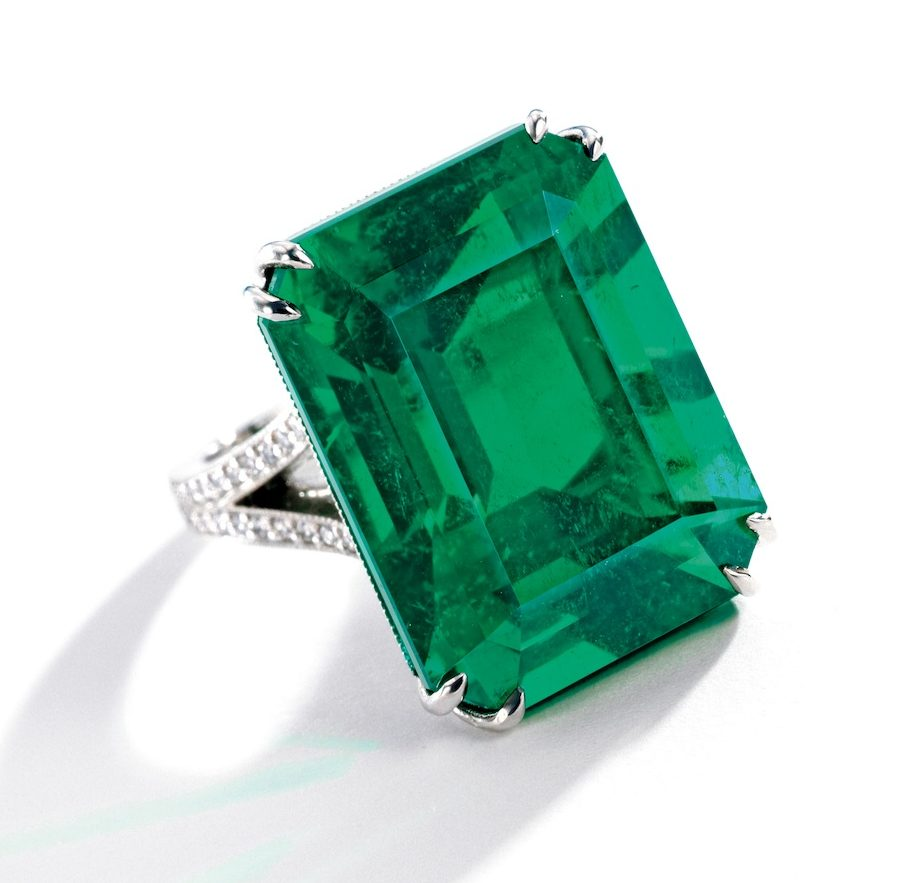 35 carat colombian emerald ring