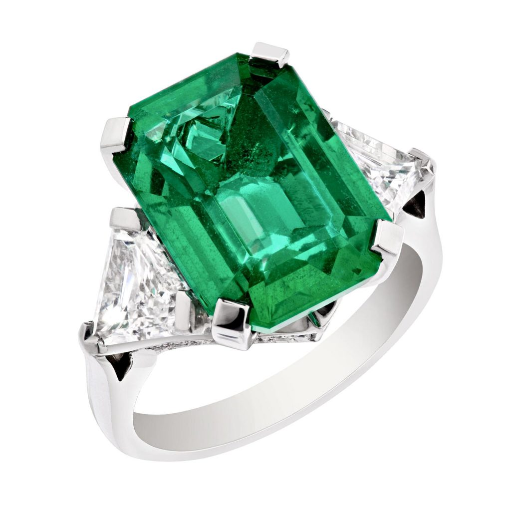 Faberge African emerald ring