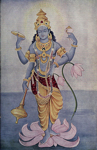 God Vishnu emeralds in religion