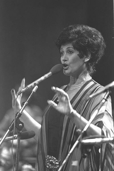 Israeli singer Yaffa Yarkoni