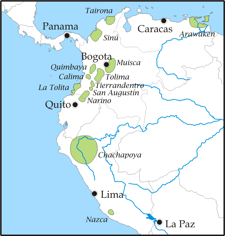 Muisca precolombian people map