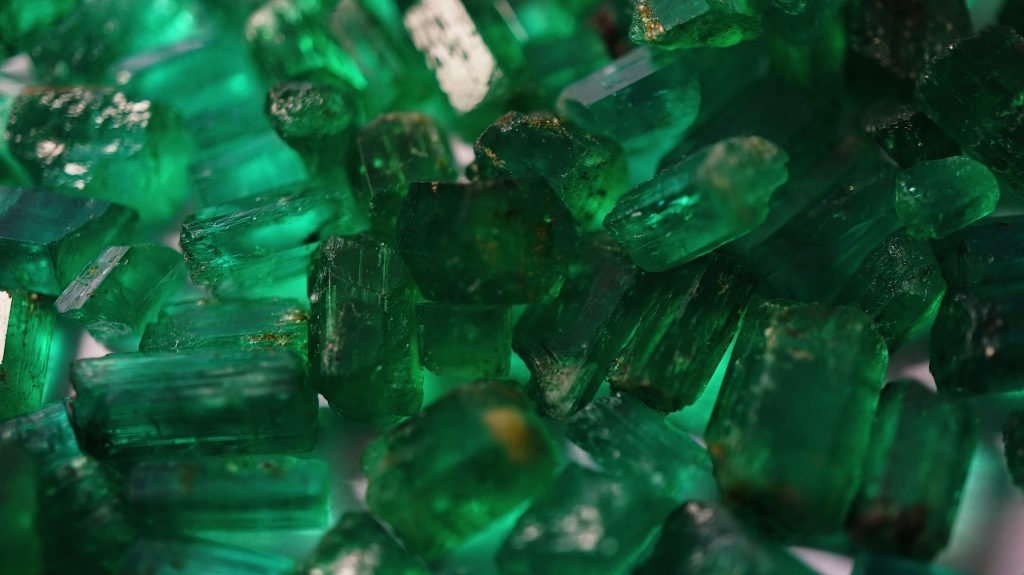 rough emerald crystals Panjshir Valley Afghanistan