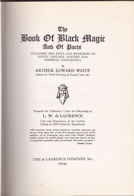 Waite book of black magic title page