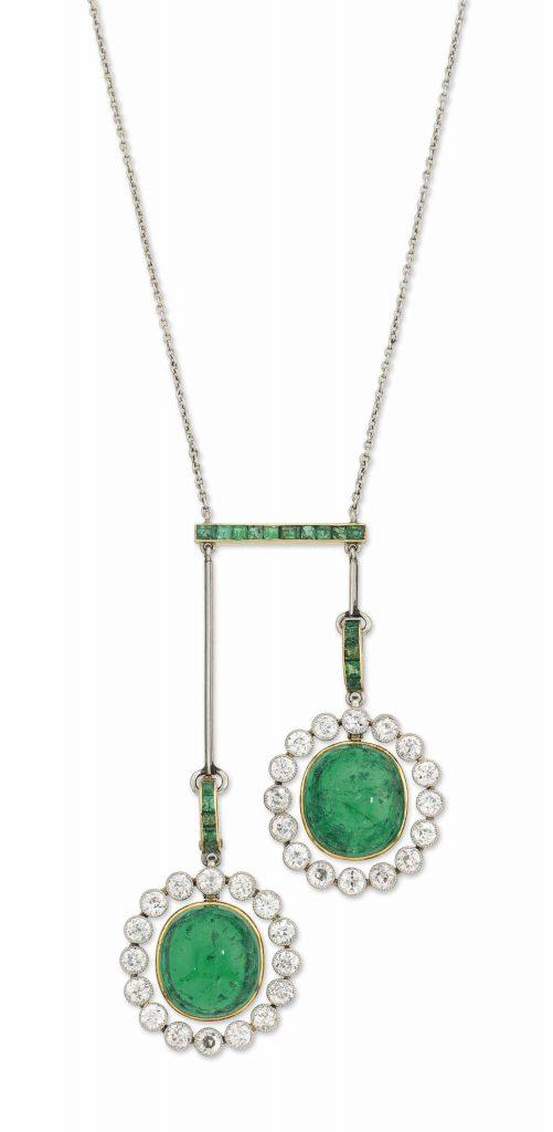 christies edwardian emerald lavaliere