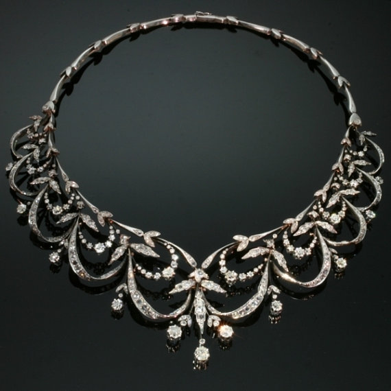 edwardian platinum necklace