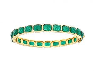 emerald gold bangle