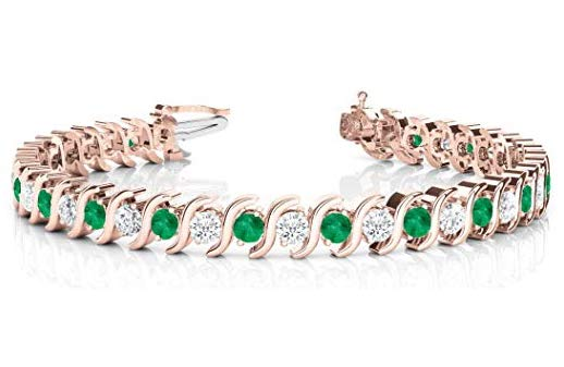 emerald link bracelet