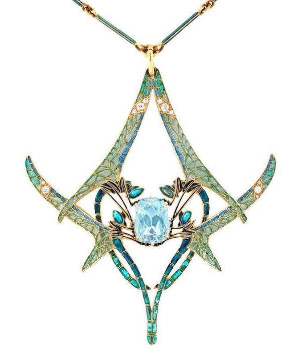 lalique dragonfly pendant