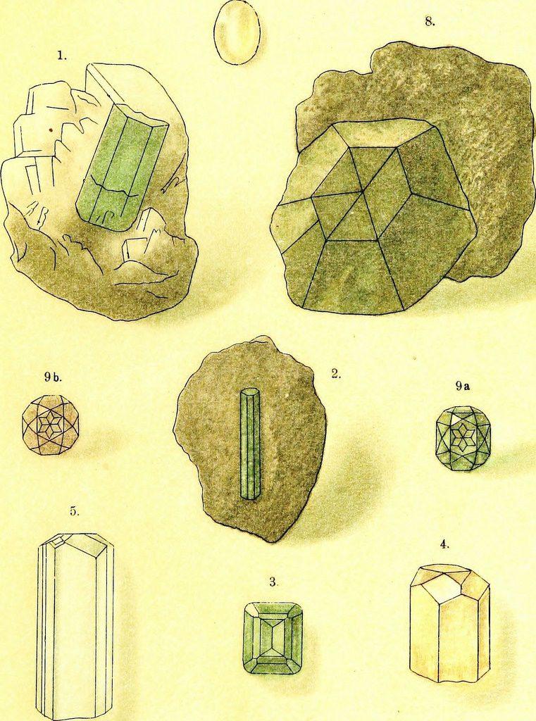 lapidaries sketches gemstones