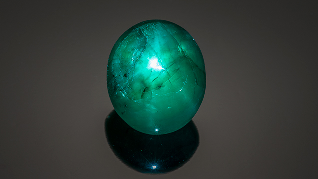 large star emerald cabochon