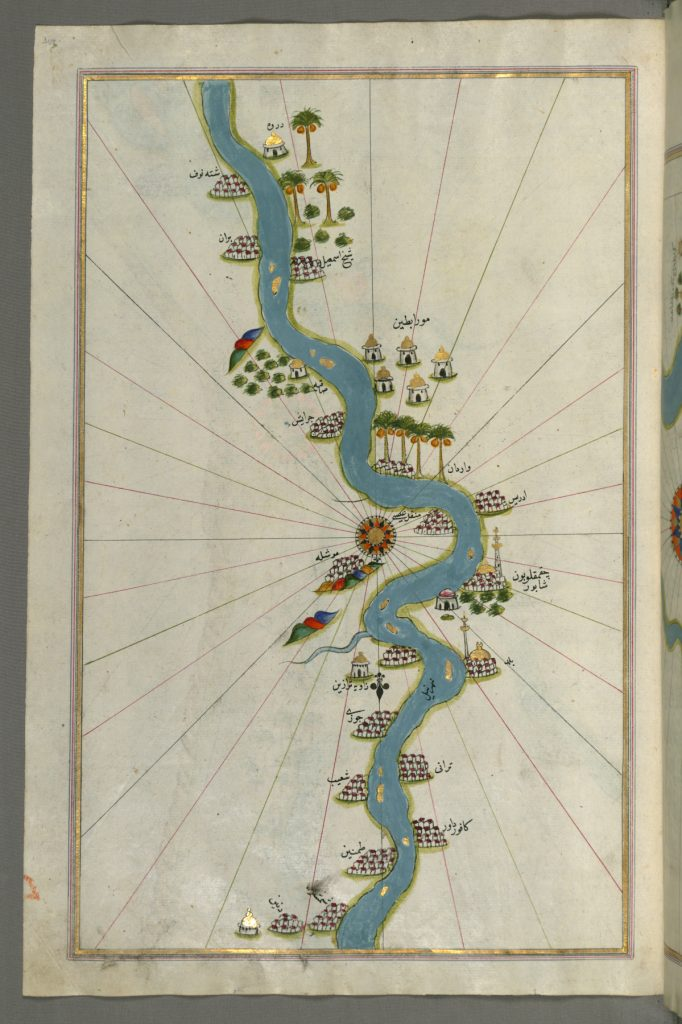 nile river ancient map