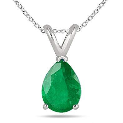 pear shaped emerald pendant