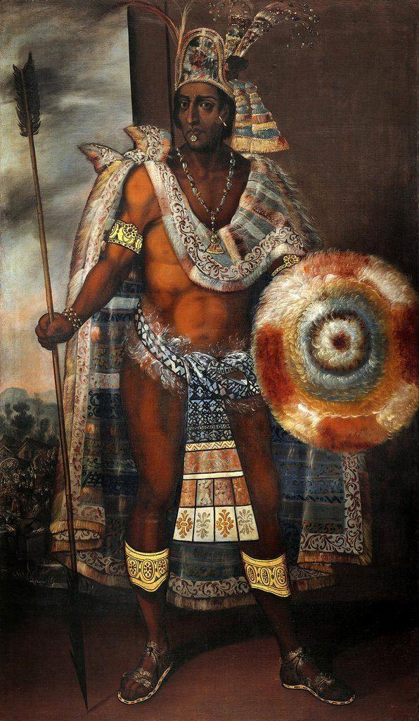portrait moctezuma aztec emperor