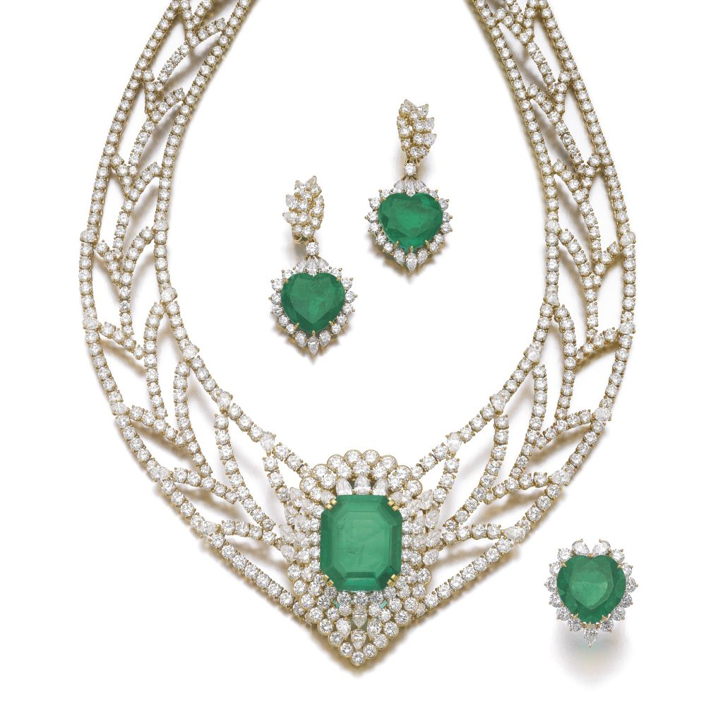 sotheby's emerald set