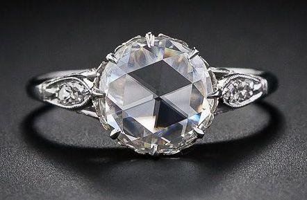 vintage rose cut diamond