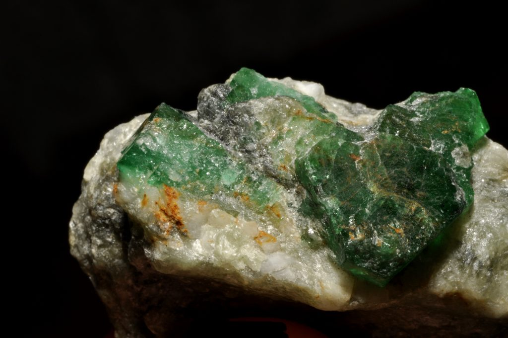 Afghan rough emerald crystal