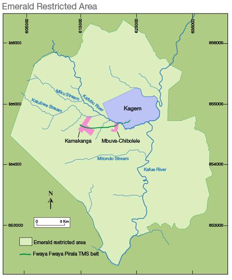 Kagem emerald mine Zambia
