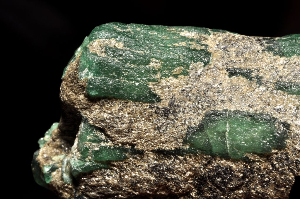 emerald rough Ural mountains