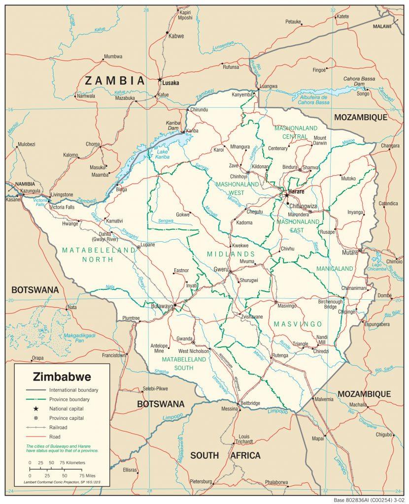 map Zimbabwe emeralds