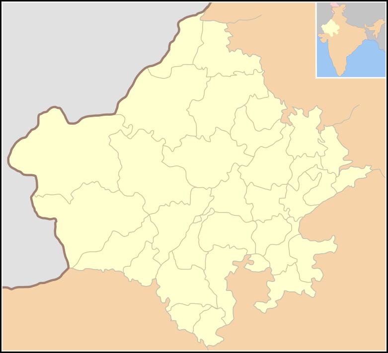 rajasthan india map
