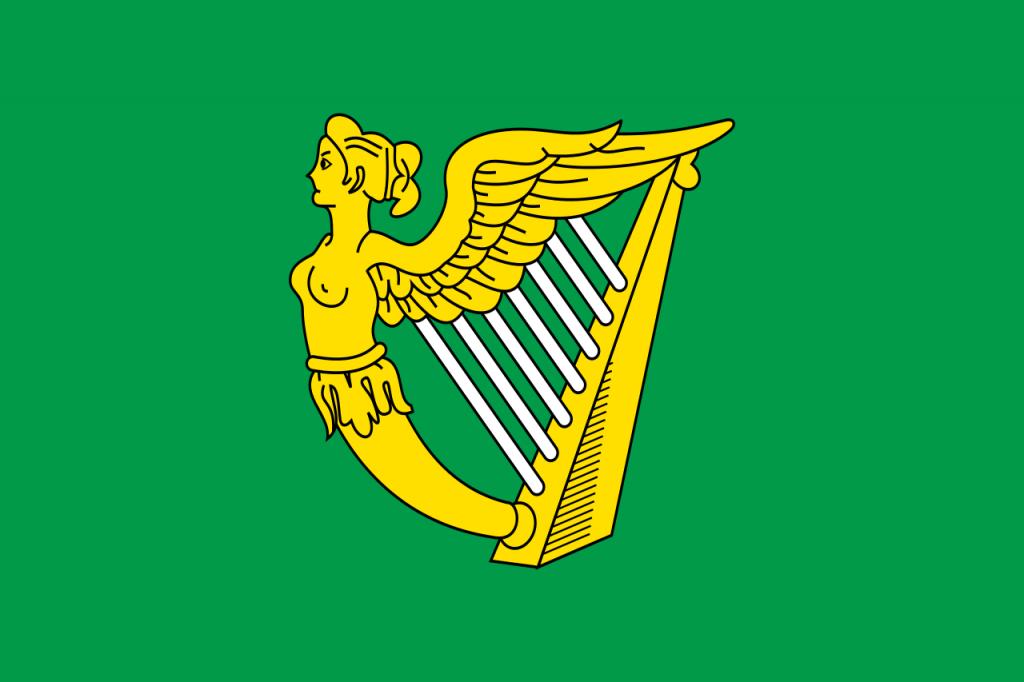 green harp flag ireland 1700s